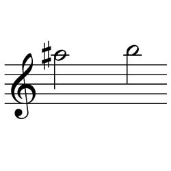 ラ♯~シ(シ♭~ド♭) / A#5~B5(B♭5~C♭6)