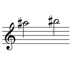 ラ♯~シ♯(シ♭=ド) / A#5~B#5(B♭5~C6)