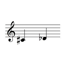 ド♯・レ♭ / C♯4・D4♭