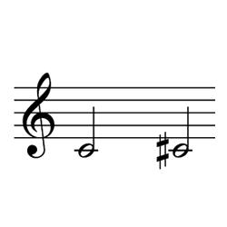 ド~ド♯(レ♭) / C4~C♯4(D♭4)