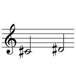 ド♯~レ♯(レ♭~ミ♭)~C#4~D#4(D♭4~E♭4)