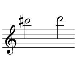 ド♯~レ / C#6~D6