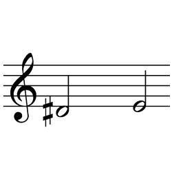 レ♯~ミ(ミ♭~ファ♭) / D#4~E4(E♭4~F♭4)