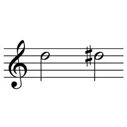 レ~レ♯(レ~ミ♭) / D5~D#5(D5~E♭5)