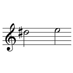 レ♯~ミ(ミ♭~ファ♭) / D#5~E5(E♭5~F♭5)