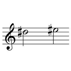 レ♯~ミ♯(ミ♭~ファ) / D#5~E#5(E♭5~F5)
