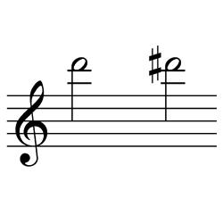 レ~レ♯(レ~ミ♭) / D6~D#6(D6~E♭6)
