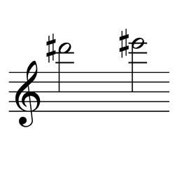 レ♯~ミ♯(ミ♭~ファ)/ D#6~E#6(E♭6~F6)