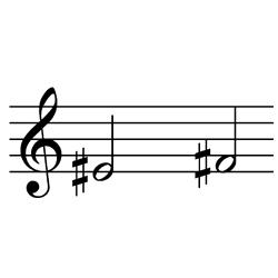 ミ♯~ファ♯(ファ~ソ♭) / E#4~F#4(F4~G♭4)