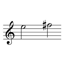 ミ~ファ♯(ファ♭~ソ♭) / E5~F#5(F♭5~G♭5)