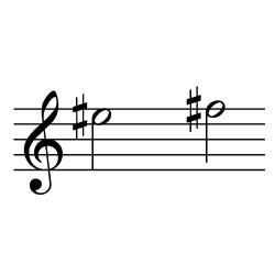 ミ♯~ファ♯(ファ~ソ♭)/ E#5~F#5(F5~G♭5)