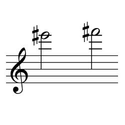 ミ♯~ファ♯(ファ~ソ♭) / E#6~F#6(F6~G♭6)