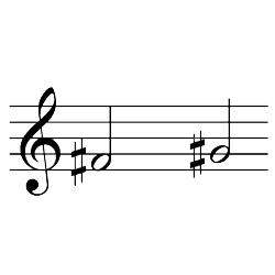 ファ♯~ソ♯(ソ♭~ラ♭) / F#4~G#5(G♭4~A♭4)