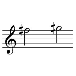 ファ♯~ソ♯(ソ♭~ラ♭) / F#5~G#5(G♭5~A♭5)