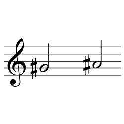 ソ♯~ラ♯(ラ♭~シ♭) / G♯4~A♯4(A♭4~B♭4)