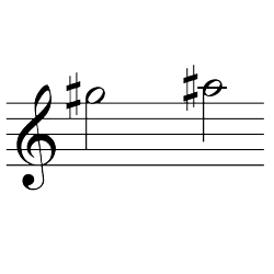 ソ♯~ラ♯(ラ♭~シ♭) / G#5~A#5(A♭5~B♭5)
